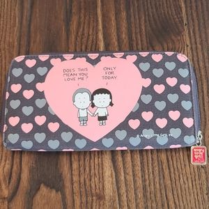 Angry Little Girls Heart Wallet